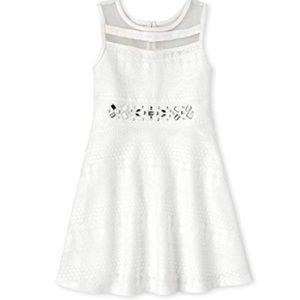 Jeweled Lace Dress Simply White